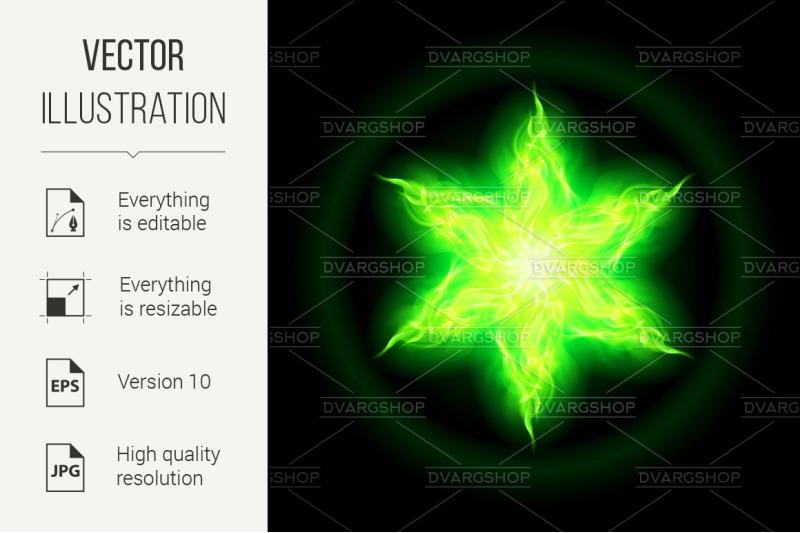 green-fire-star