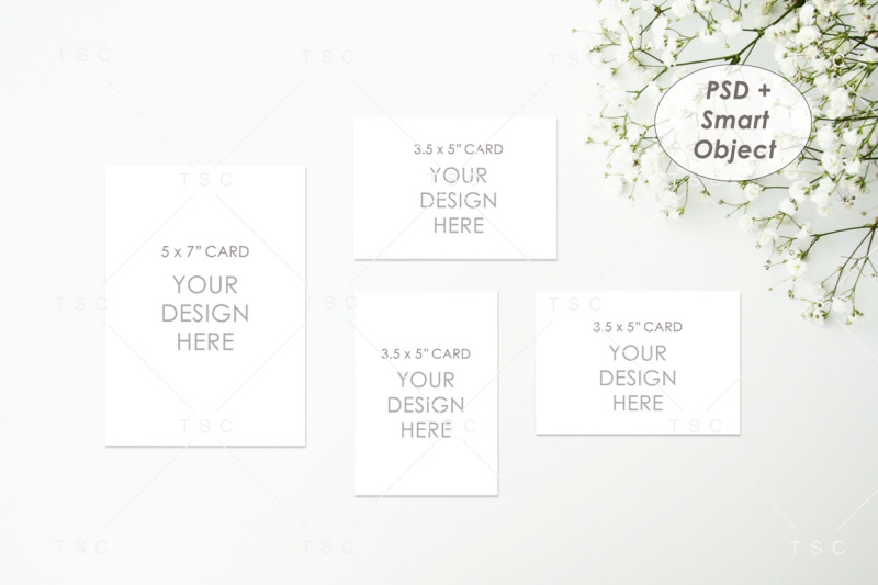 Free Wedding Suite Mockup / Invitation / RSVP / Thank You Card (PSD Mockups)