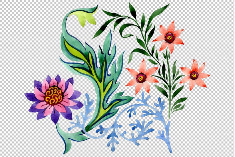 beautiful-flower-ornament-watercolor-png