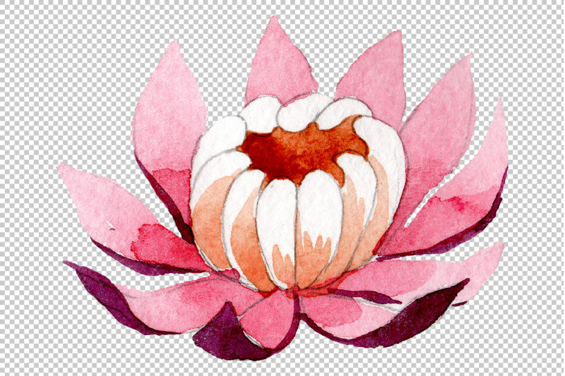 ornament-with-lotus-watercolor-png