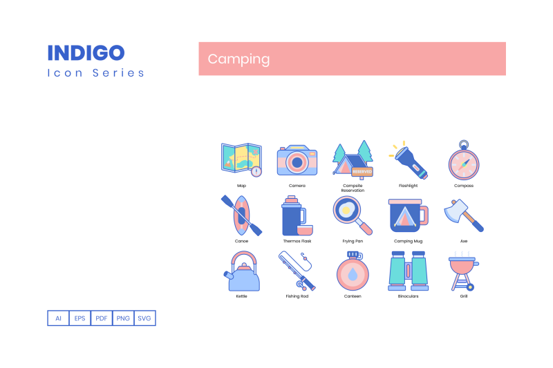 90-camping-icons