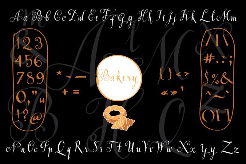 hand-lettered-alphabet-quot-bakery-quot