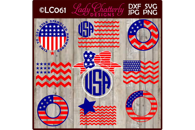 patriotic-flags-and-frames-for-monogram-designs