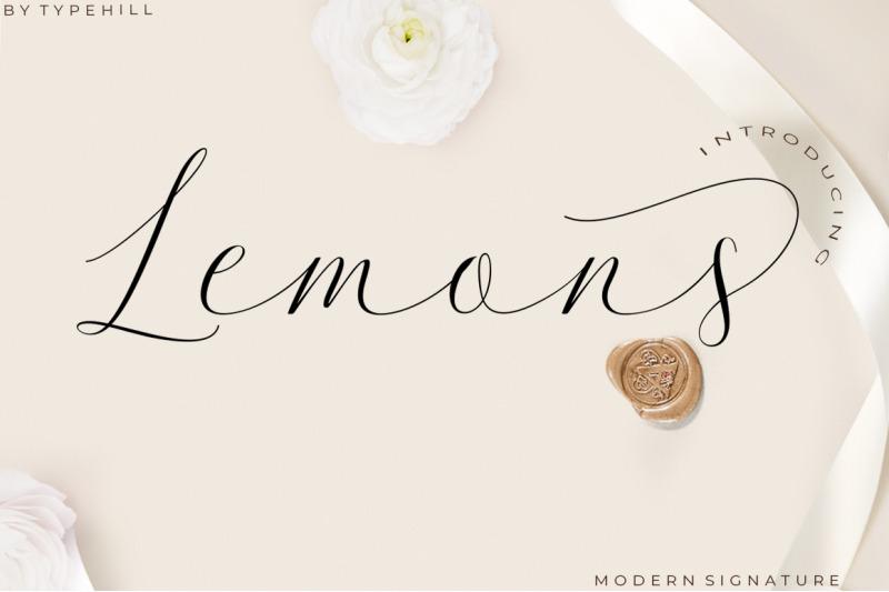lemons-font-trio