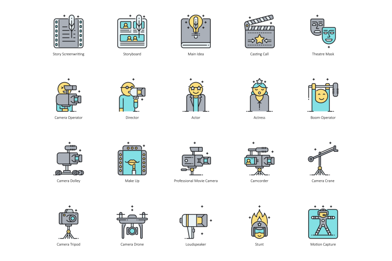 65-video-production-icons