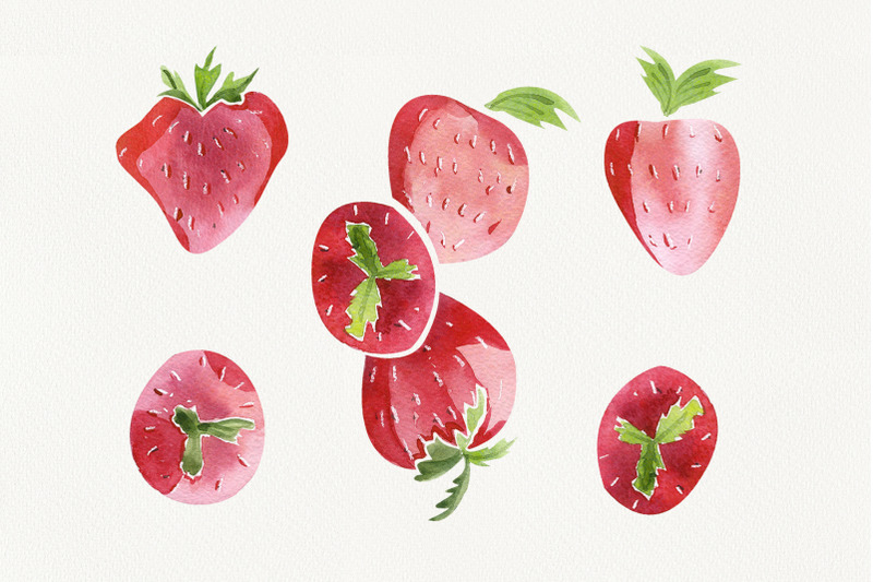 watercolor-set-quot-romantic-strawberry-quot