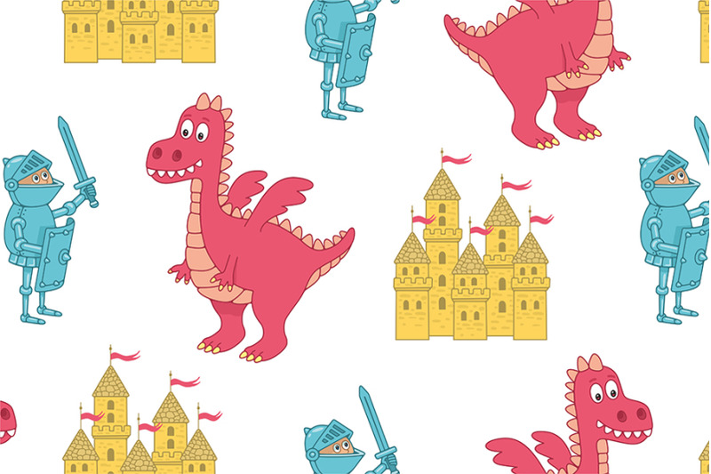 knight-and-dragon-pattern