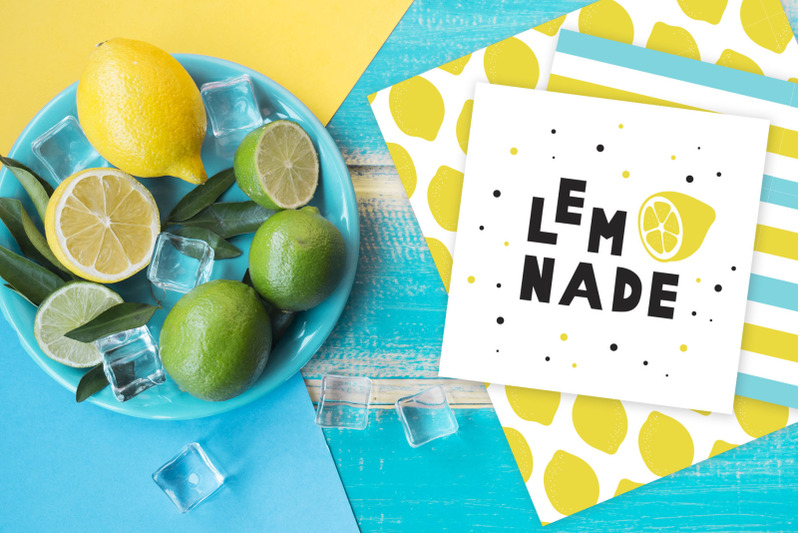 summer-font-and-lemons-pack
