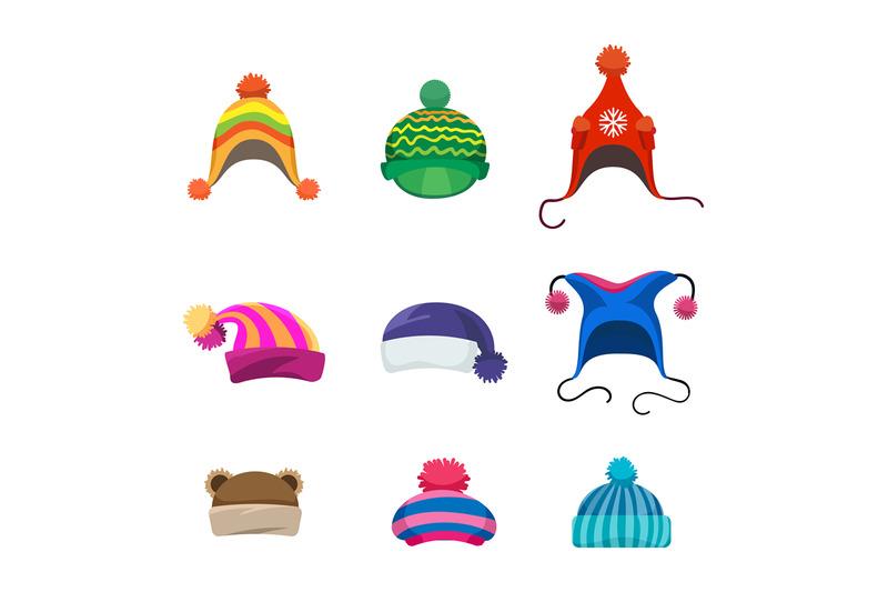 pompons-winter-hats-set