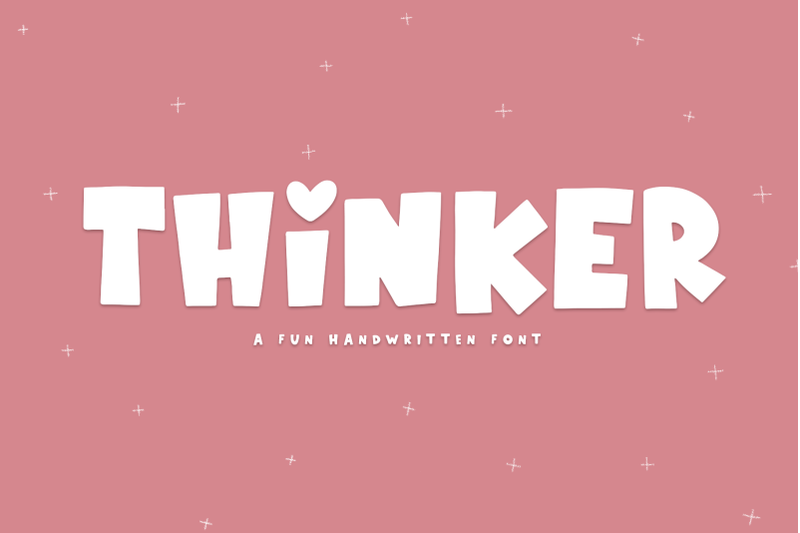 thinker-a-fun-handwritten-font