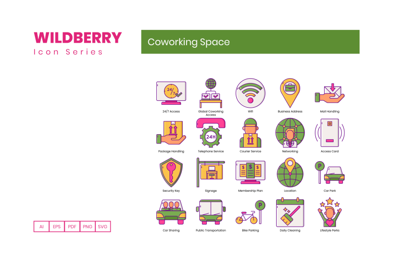 95-coworking-space-icons