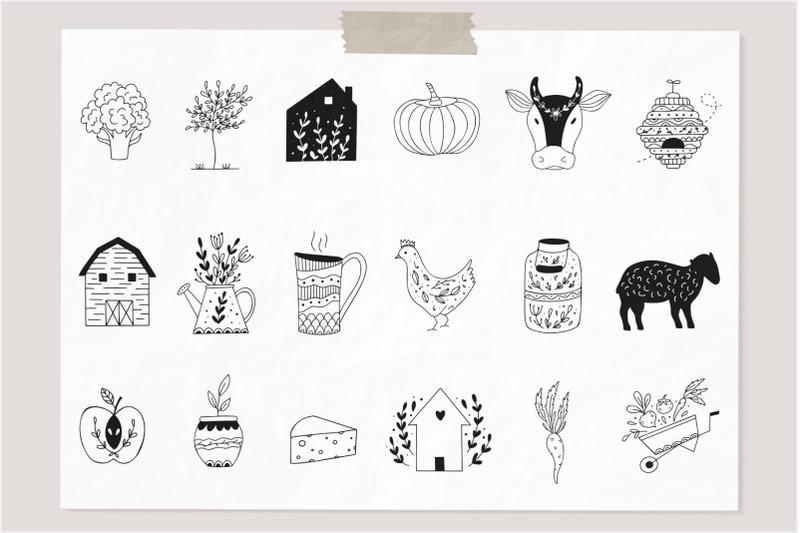 farm-love-premade-logos-set