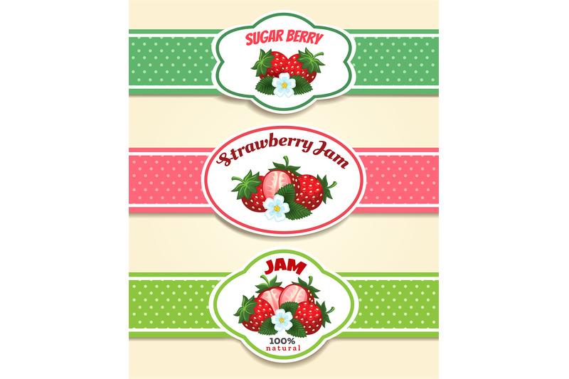 strawberry-fruit-label-set