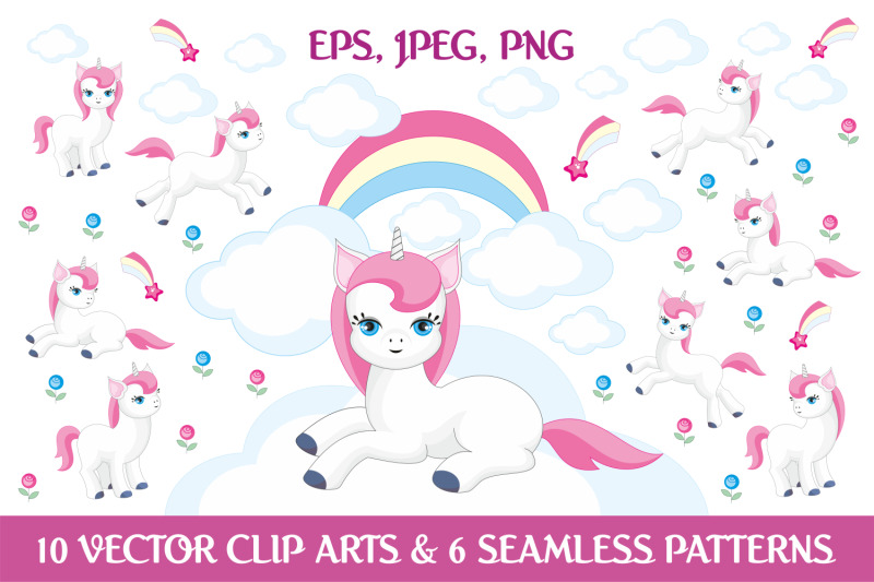 the-fairytale-bundle-cliparts-and-seamless-patterns