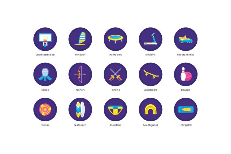70-sport-equipment-icons