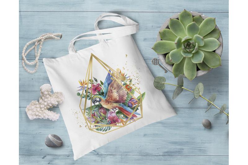 watercolor-parrot-clipart-tropical-sublimation-design-summer-bird