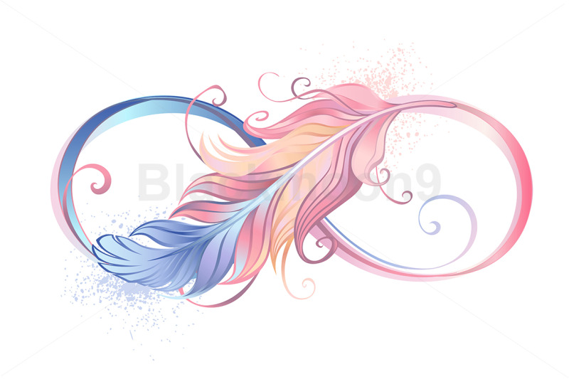 infinity-symbol-with-pink-feather