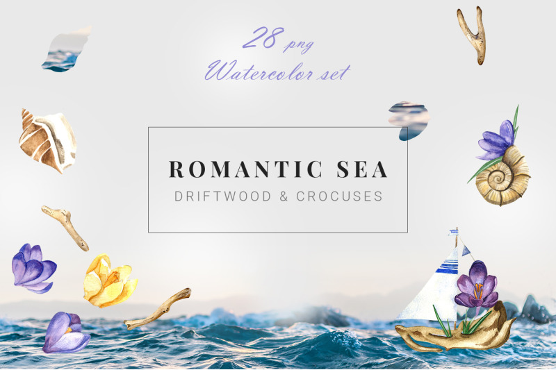 romantic-sea-summer-watercolor-clipart-set