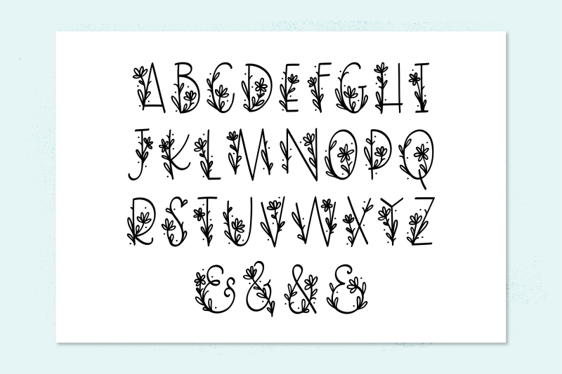 daisy-monogram-font