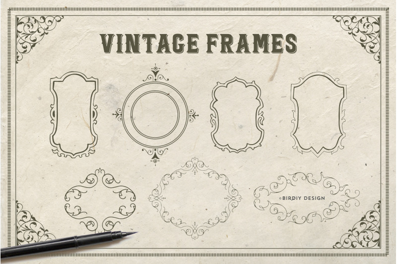 vintage-ornaments-frames-amp-borders