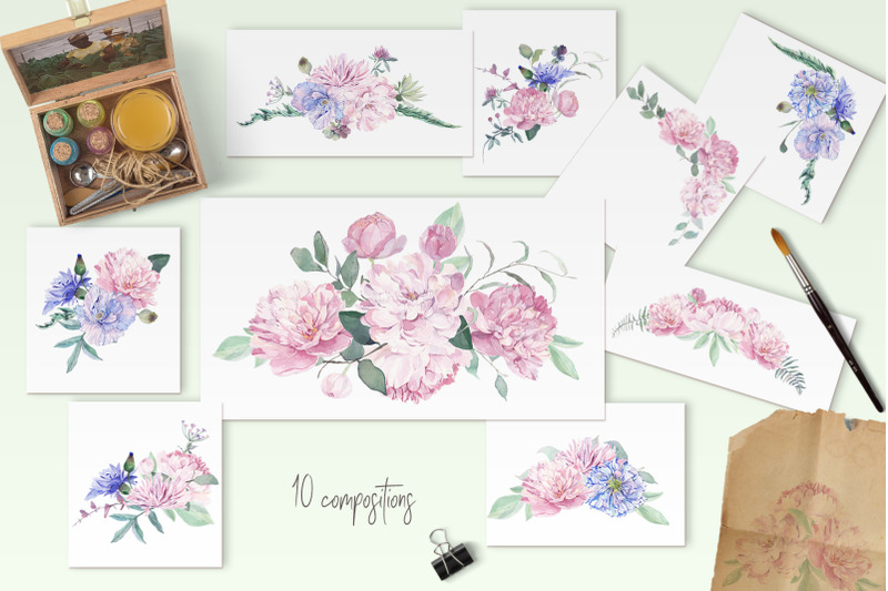 chic-watercolor-floral-collection