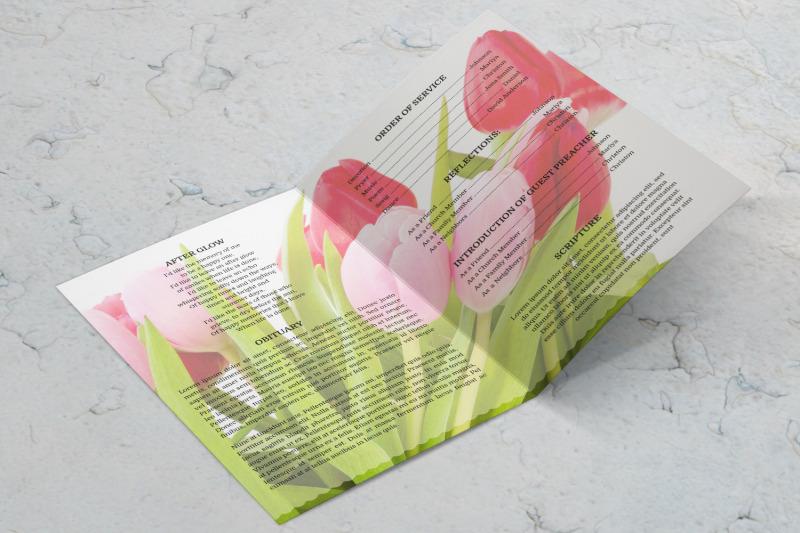 pink-tulip-funeral-program-template