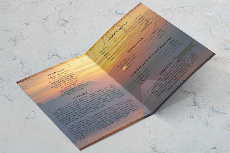 sunset-funeral-program-template