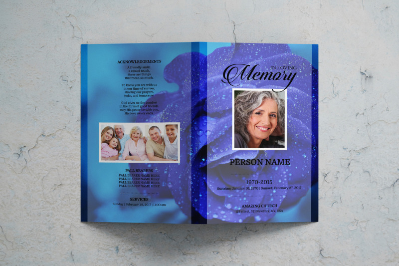 blue-flower-funeral-program-template