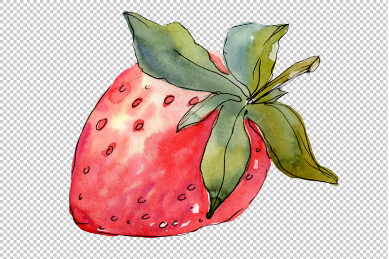 strawberry-quot-kimberly-quot-watercolor-png