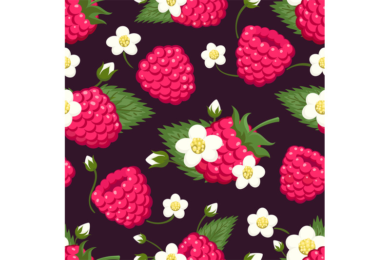 raspberry-seamless-pattern