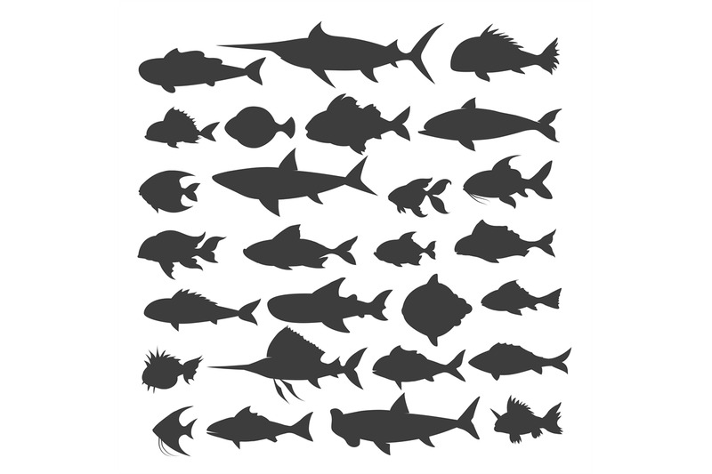 fishes-silhouettes-set