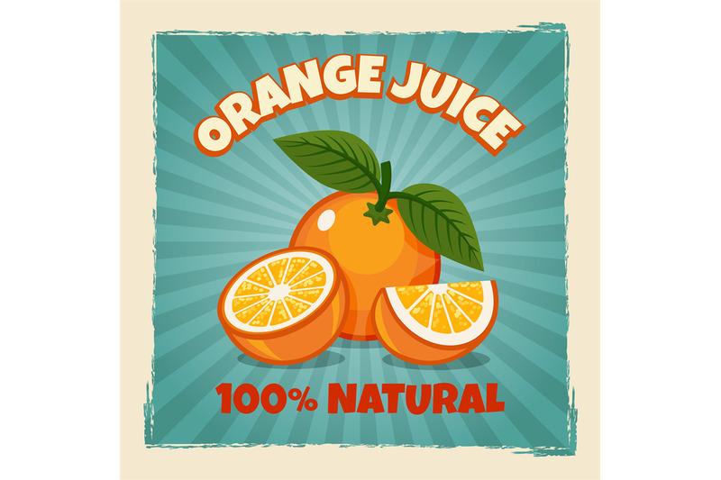 orange-fruit-vintage-poster