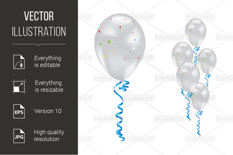 balloons-with-stars-and-ribbons