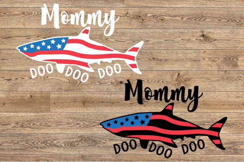 mommy-shark-usa-flag-doo-doo-doo-svg-4th-of-july-1442s