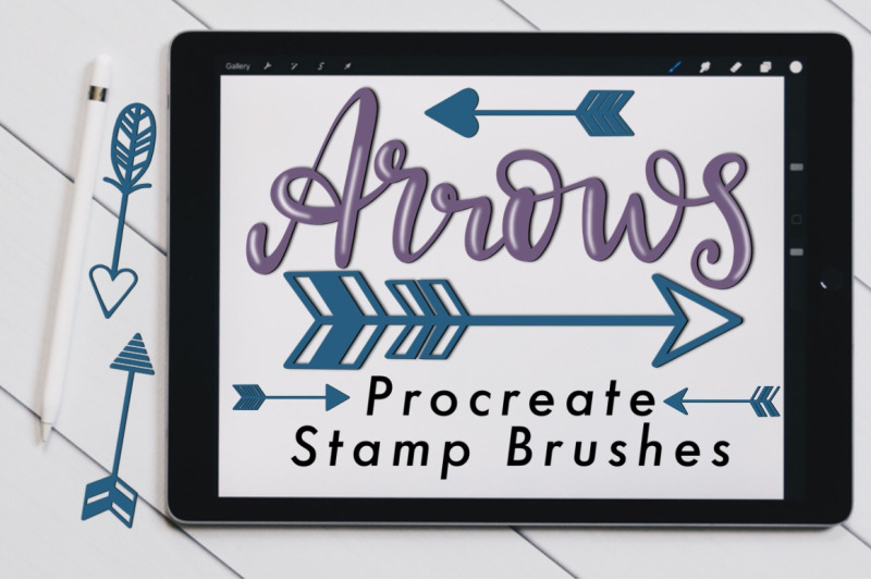 arrows-procreate-stamp-brushes