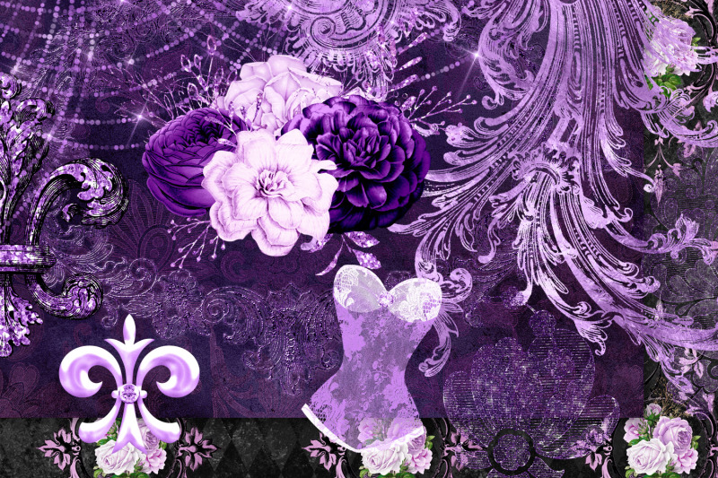 purple-masquerade-digital-scrapbook-kit