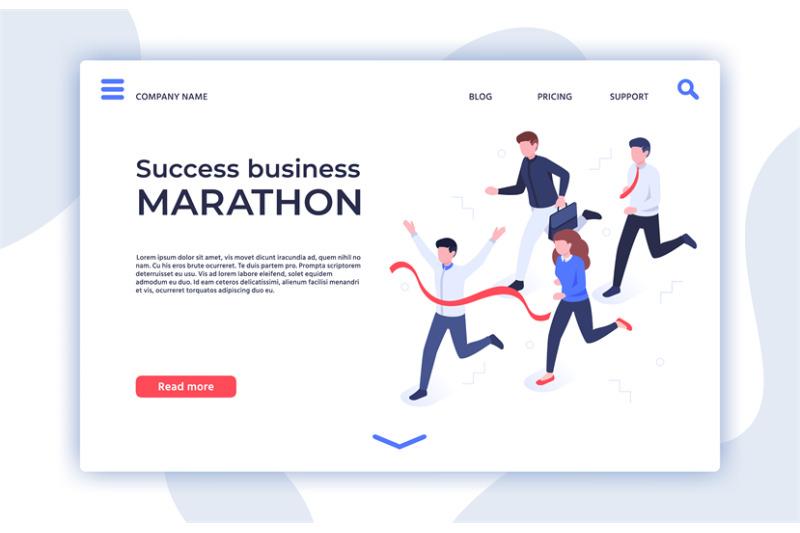 success-business-marathon-successful-startup-businessman-winner-and
