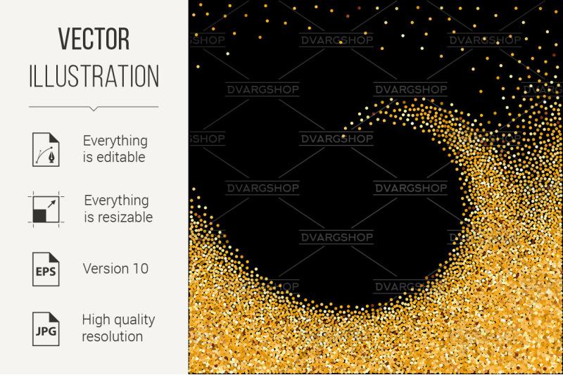 gold-glittering-wave