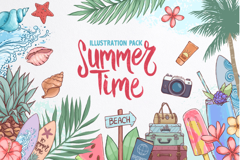 summer-time-illustration-pack