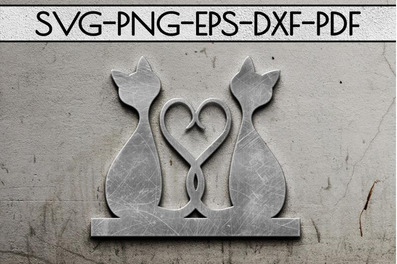 cat-in-love-papercut-template-cat-house-decor-valentine-svg-dxf