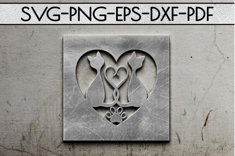 cat-lover-frame-papercut-template-cat-house-decor-svg-dxf
