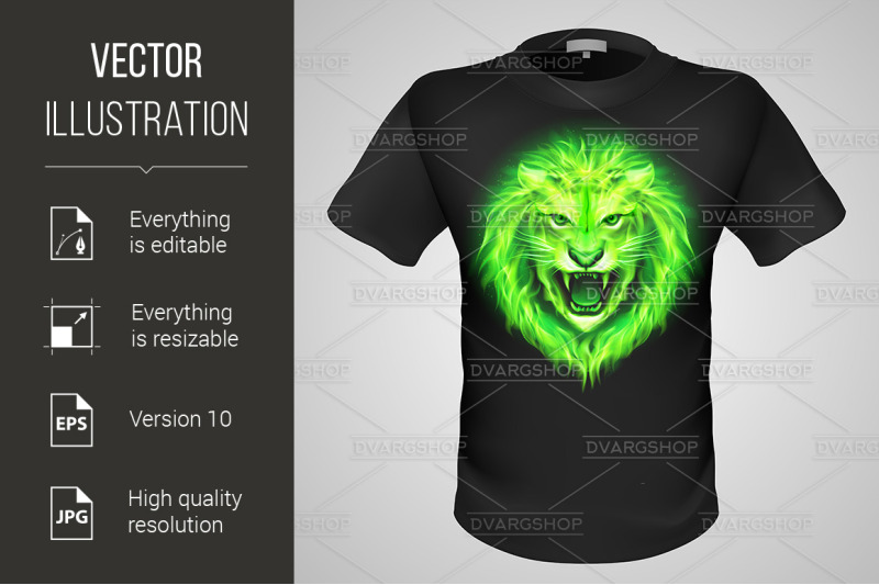male-t-shirt-with-lion-print