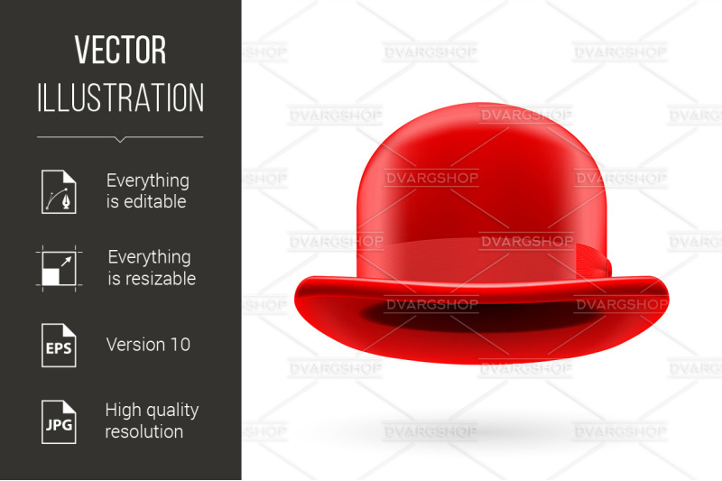 red-bowler-hat