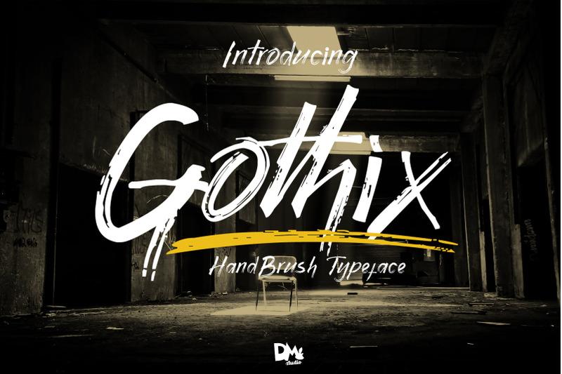 gothix-handbrush-typeface