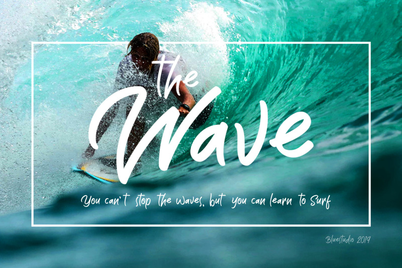 the-wave-display-font