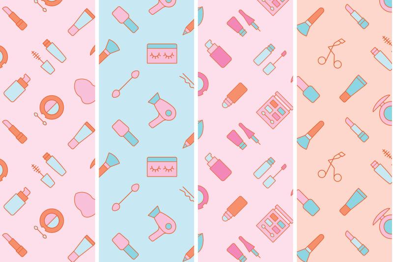 cosmetics-seamless-patterns