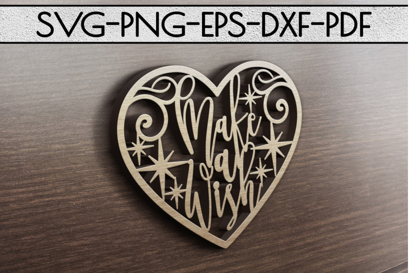 make-a-wish-papercut-template-birhtday-decor-svg-pdf-dxf
