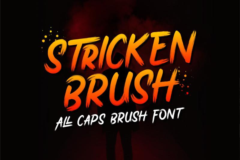 stricken-brush