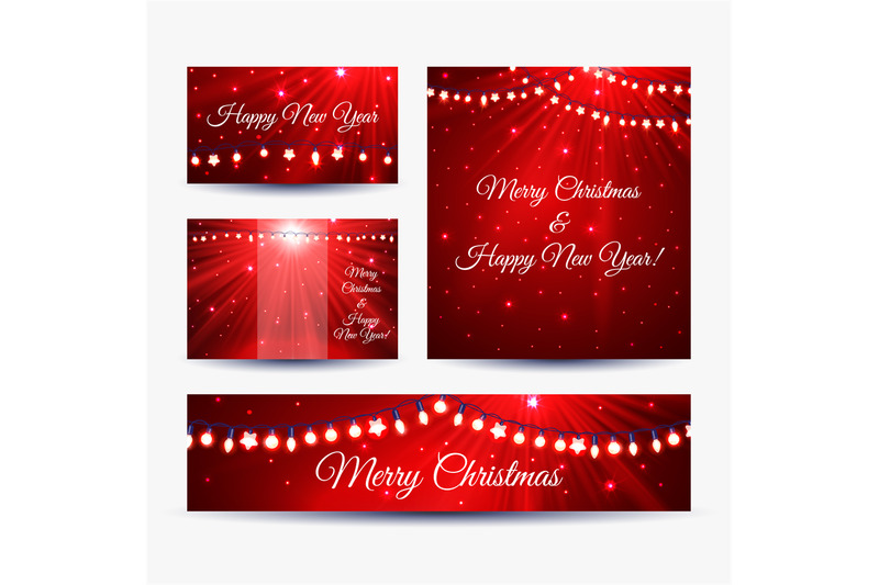 christmas-banners-with-garlands