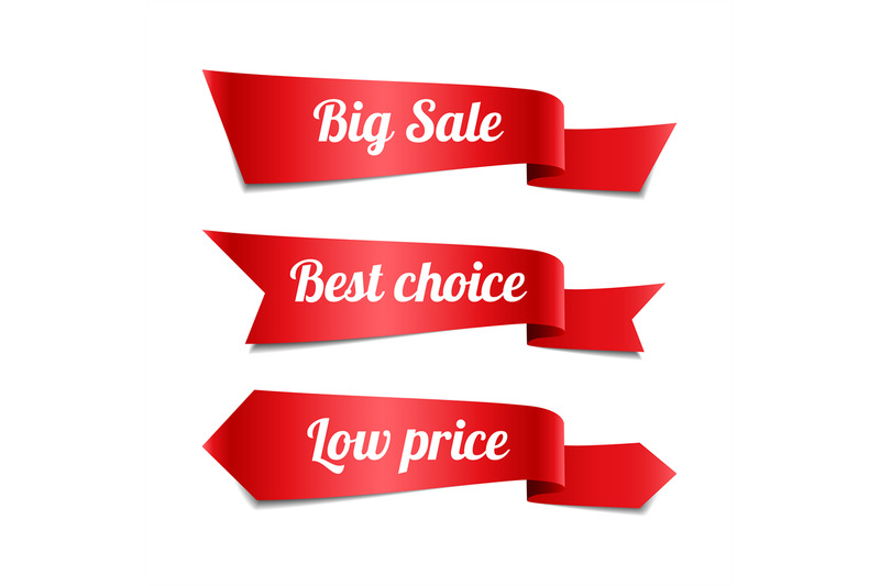 sale-red-ribbon-banners-with-text